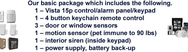 Vista 15P Basic Alarm Package